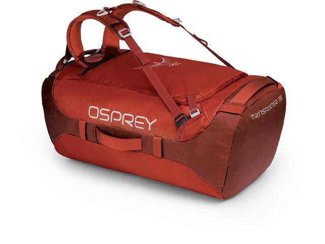 Osprey Transporter 95 Duffelilaukku, ruffian red